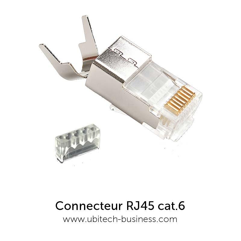 connecteur rj45 8p8c cat 6 blindage stp. Black Bedroom Furniture Sets. Home Design Ideas