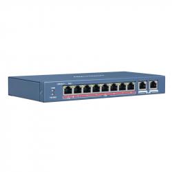 Hikvision DS-3E0109P-E switch PoE longue distance 250 mètres 9 ports dont 8 ports PoE