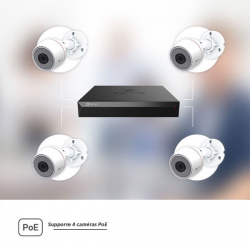 Kit 4 caméras PoE EZVIZ Full HD 2MP grand angle vision de nuit 30 mètres