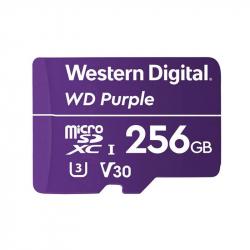 Carte MicroSD 256GB spéciale vidéosurveillance Western Digital Purple