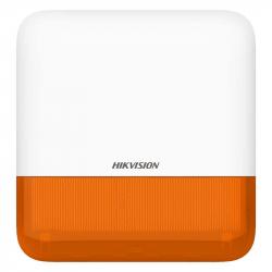Sirène extérieure sans fil orange 110 décibels Hikvision DS-PS1-E-WE