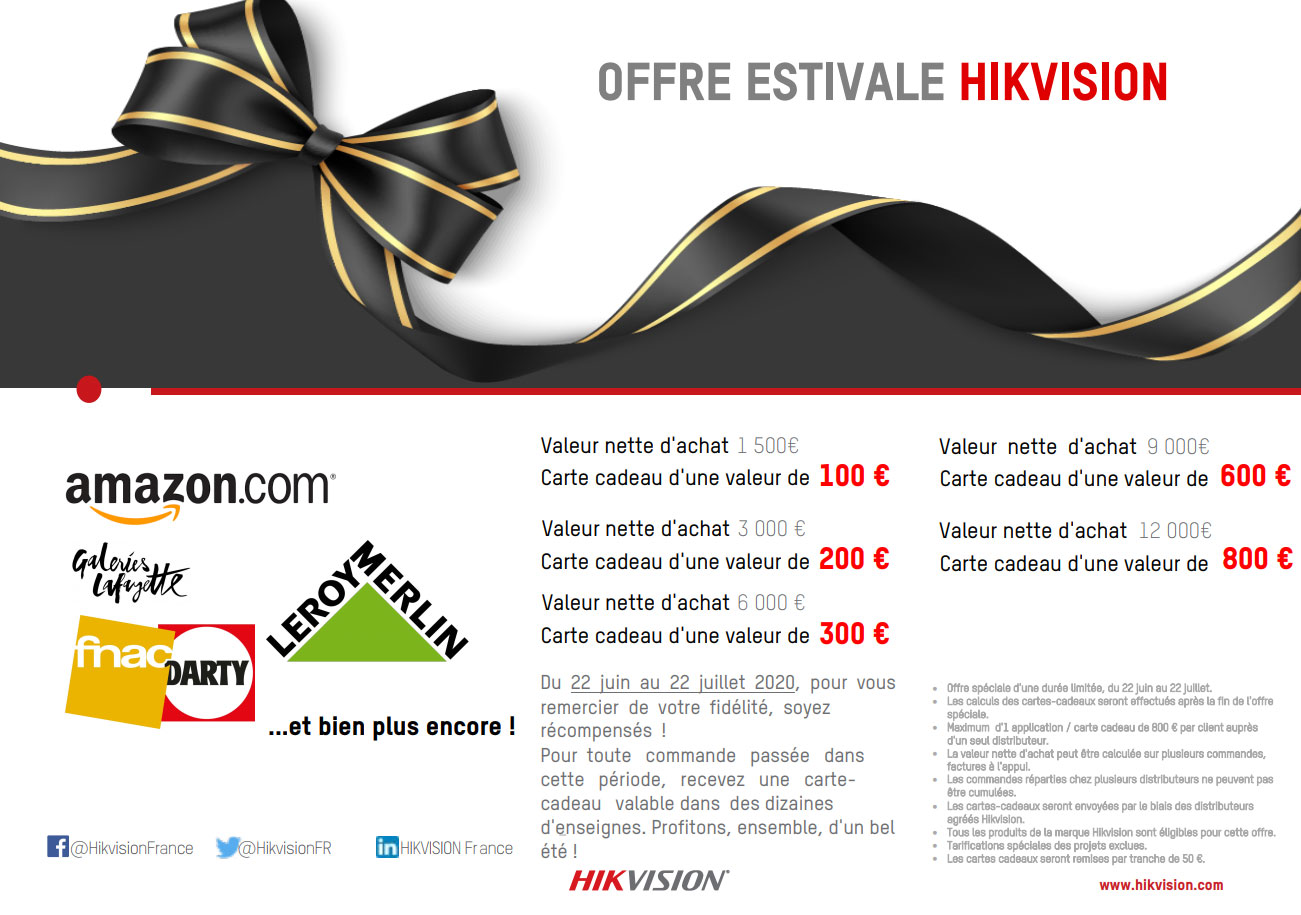 Offre cadeau Hikvision